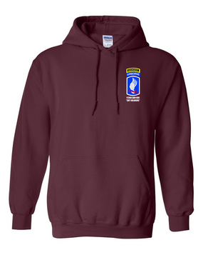 173rd Airborne Brigade w/ Ranger Tab Embroidered Hooded Sweatshirt