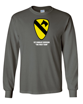 1st Cavalry Division Long-Sleeve Cotton Shirt  -Chest