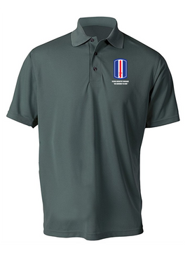 193rd Infantry Brigade  Embroidered Moisture Wick Polo