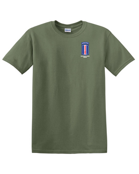 193rd Infantry Brigade Airborne Cotton T-Shirt -Pocket