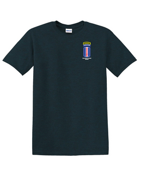 193rd Infantry Brigade Airborne w/ Ranger Tab Cotton T-Shirt -Pocket