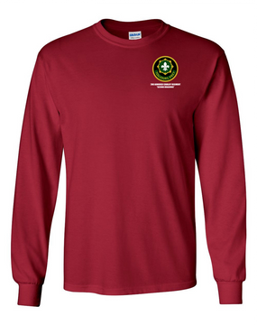 2nd Armored Cavalry Regiment Long-Sleeve Cotton Shirt  -Pocket