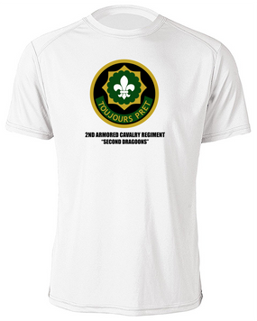 2nd Armored Cavalry Regiment Moisture Wick Shirt  -Chest