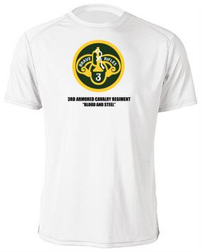 3rd Armored Cavalry Regiment Moisture Wick Shirt  -Chest