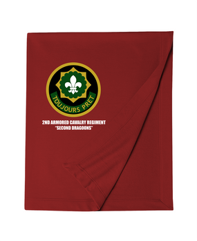 2nd Armored Cavalry Regiment Embroidered Dryblend Stadium Blanket