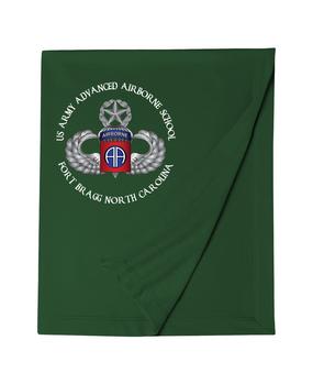 US Army Advanced Airborne School (Ft. Bragg) Embroidered Dryblend Stadium Blanket