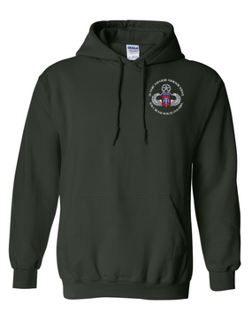 US Army Advanced Airborne School (Ft Bragg) Embroidered Hooded Sweatshirt