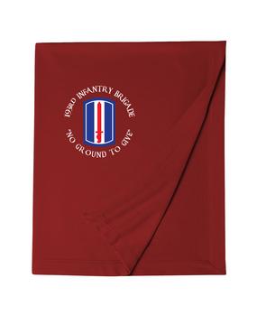 193rd Infantry Brigade Embroidered Dryblend Stadium Blanket (C)