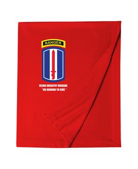 193rd Infantry Brigade w/ Ranger Tab Embroidered Dryblend Stadium Blanket