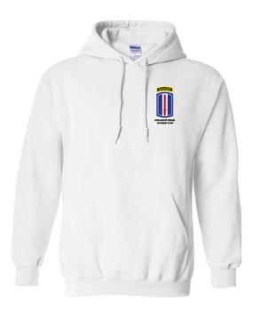 193rd Infantry Brigade w/ Ranger Tab Embroidered Hooded Sweatshirt