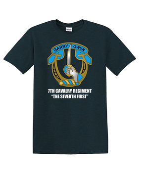 7th Cavalry Regiment Cotton T-Shirt -Chest