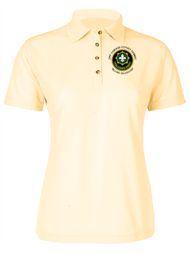 Ladies 2nd Armored Cavalry Regiment Embroidered Moisture Wick Polo Shirt  (C)