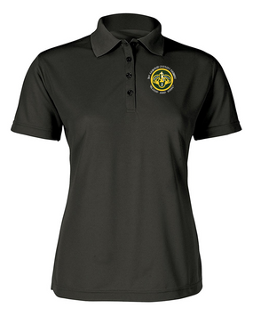 Ladies 3rd Armored Cavalry Regiment Embroidered Moisture Wick Polo Shirt  (C)