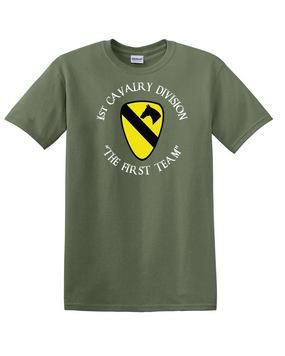 1st Cavalry Division Cotton T-Shirt -Chest (C)