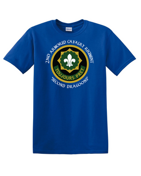 2nd Armored Cavalry Regiment Cotton T-Shirt -Chest (C)