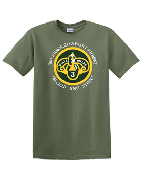 3rd Armored Cavalry Regiment Cotton T-Shirt -Chest (C)