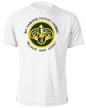 3rd Armored Cavalry Regiment Moisture Wick Shirt  -Chest (C)