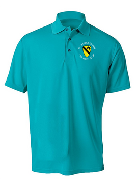 1st Cavalry Division Embroidered Moisture Wick Polo (C)