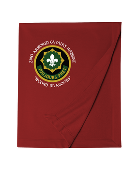 2nd Armored Calvary Regiment Embroidered Dryblend Stadium Blanket (C)