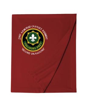 2nd Armored Calvary Regiment Embroidered Dryblend Stadium Blanket (C)