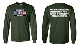 US Air Force Veteran Long-Sleeve Cotton Shirt  -Arthritis- (FF)