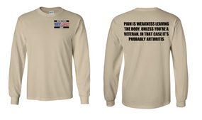 US Army Veteran Long-Sleeve Cotton Shirt  -Arthritis- (P)