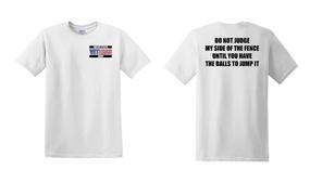 US Army Veteran Cotton T-Shirt -Fence-(P)