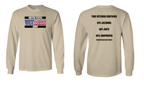 US Army Veteran Long-Sleeve Cotton Shirt  -Hate- (FF)
