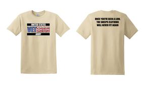 US Army Veteran Cotton T-Shirt -Lion-(FF)
