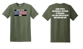 US Army Veteran Cotton T-Shirt -Morally-(FF)