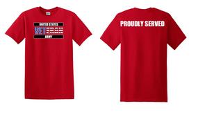 US Army Veteran Cotton T-Shirt -Proudly-(FF)