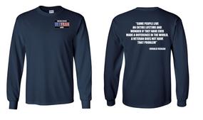 US Army Veteran Long-Sleeve Cotton Shirt  -Reagin- (P)
