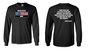 US Army Veteran Long-Sleeve Cotton Shirt  -Reagin- (FF)