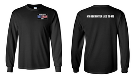 US Army Veteran Long-Sleeve Cotton Shirt  -Recruiter- (P)