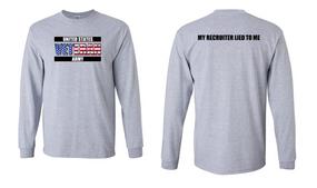 US Army Veteran Long-Sleeve Cotton Shirt  -Recruiter- (FF)