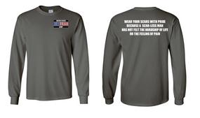 US Army Veteran Long-Sleeve Cotton Shirt  -Scars- (P)