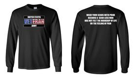 US Army Veteran Long-Sleeve Cotton Shirt  -Scars- (FF)