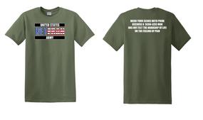 US Army Veteran Cotton T-Shirt -Scars-(FF)