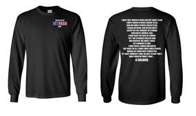 US Army Veteran Long-Sleeve Cotton Shirt  -Soldier- (P)