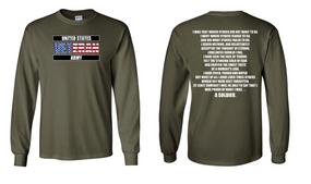 US Army Veteran Long-Sleeve Cotton Shirt  -Soldier- (FF)