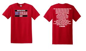 US Army Veteran Cotton T-Shirt -Soldier-(FF)