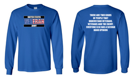 US Army Veteran Long-Sleeve Cotton Shirt  -Two Kinds- (FF)