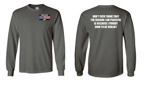 US Army Veteran Long-Sleeve Cotton Shirt  -Violent- (P)