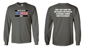 US Army Veteran Long-Sleeve Cotton Shirt  -Violent- (FF)