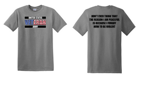 US Army Veteran Cotton T-Shirt -Violent-(FF)