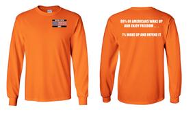 US Army Veteran Long-Sleeve Cotton Shirt  -Wake Up- (P)