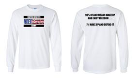 US Army Veteran Long-Sleeve Cotton Shirt  -Wake Up- (FF)
