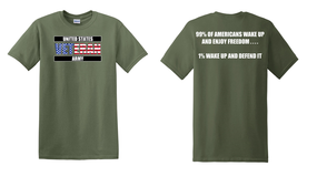 US Army Veteran Cotton T-Shirt -Wake Up-(FF)
