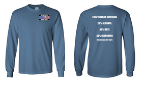 US Marine Corps Veteran Long-Sleeve Cotton Shirt  -Hate- (P)