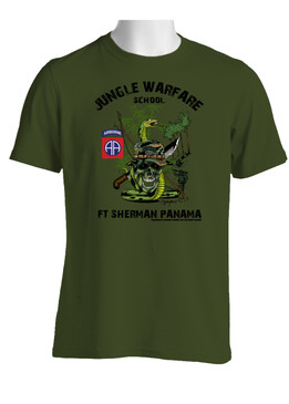 82nd Airborne Division Jungle Master Cotton T-Shirt (OS)